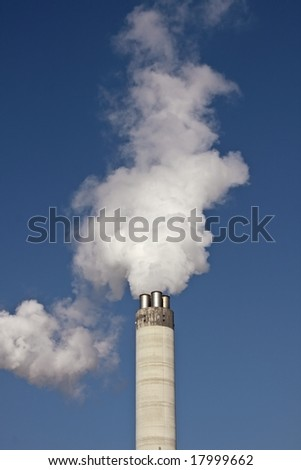 Smoke stack producing smoke