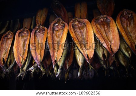 Smoked kippers - stock photo