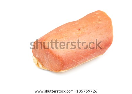Smoked meat isolated on a white background.