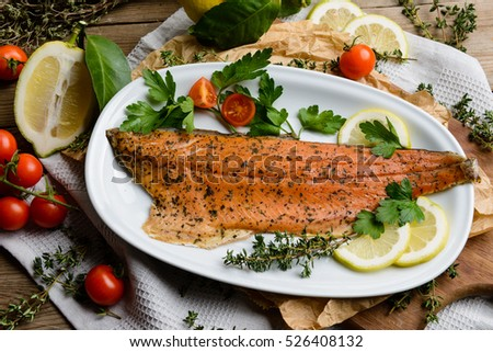 Smoked salmon trout