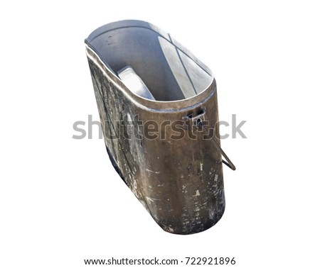 smoked tourist kettle over white background