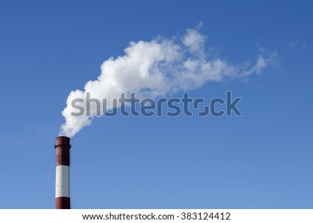 Smokestack against the sky