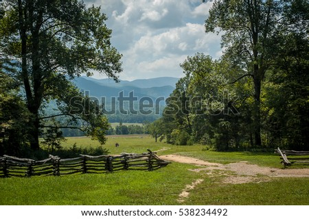 Smokey Mountains on a summer day.