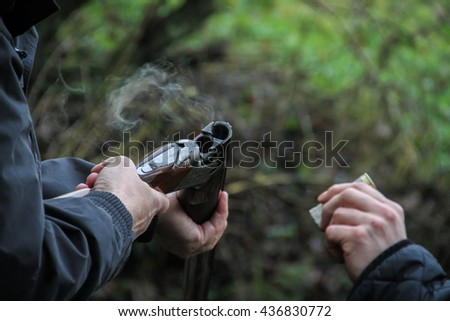 Smoking Barrel - stock photo
