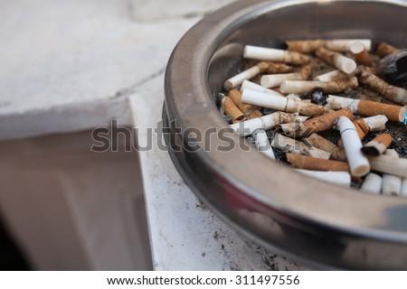 smoking cigarette - stock photo