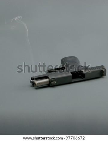 Smoking Gun - stock photo