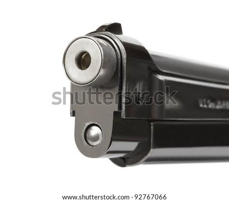 Smoking gun - isolated on white background - stock photo