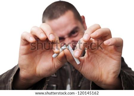 Smoking habit - stock photo