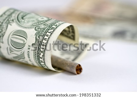 Smoking is the emission of money