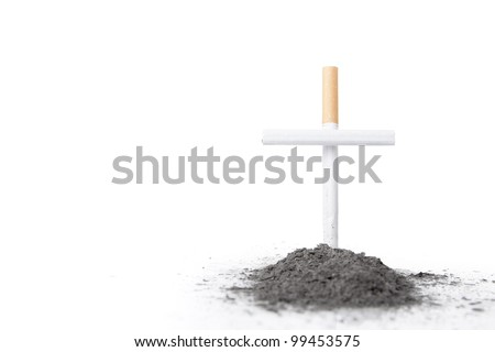 smoking kills concept with cigarette