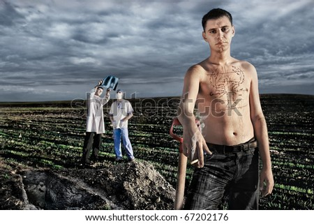 Smoking kills. Smoking causes lung cancer. Health Ministry Warning. (conceptual surreal style) - stock photo