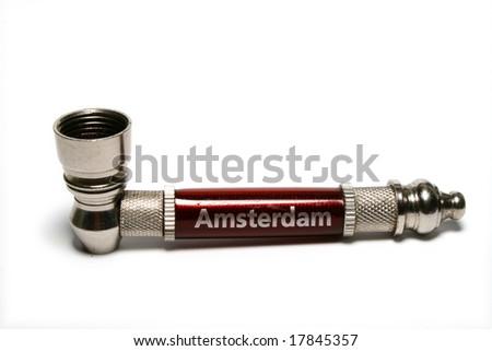 Smoking pipe - stock photo