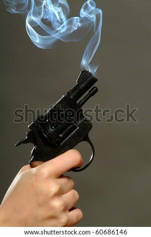 Smoking Pistol - stock photo