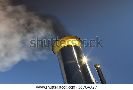 Smoking ship funnel