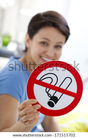 Smoking, Symbol - stock photo