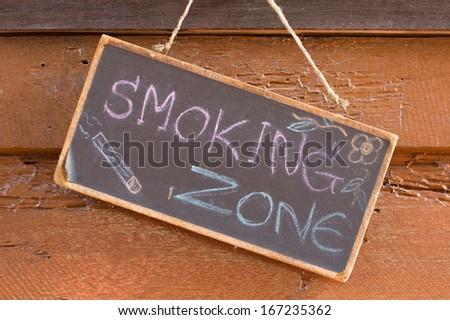 Smoking Zone - stock photo