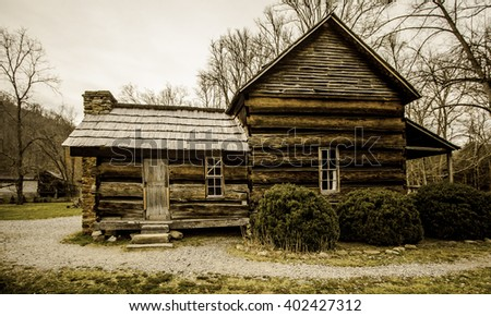 Oconaluftee valley stock photos royalty free images for Privately owned cabins in the smoky mountains
