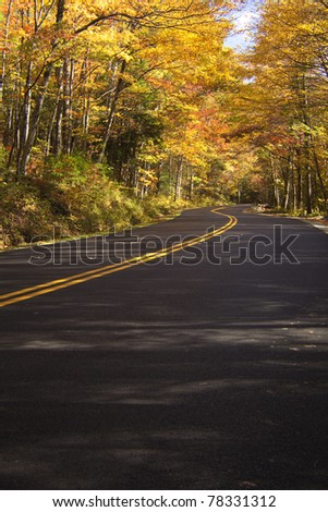 Smoky Mountain Autumn - stock photo