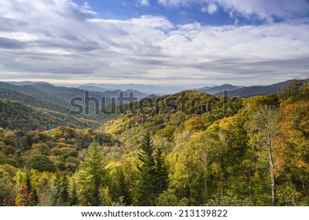 Smoky Mountains in Tennessee, USA. - stock photo