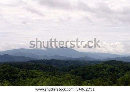 Smoky Mountains Tennesse - stock photo