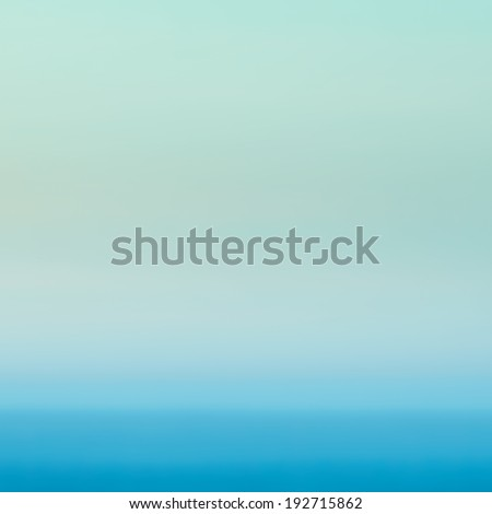 Smooth abstract gradient background bright mint green color.  Defocused abstract texture background, horizont, sea and sky.  - stock photo