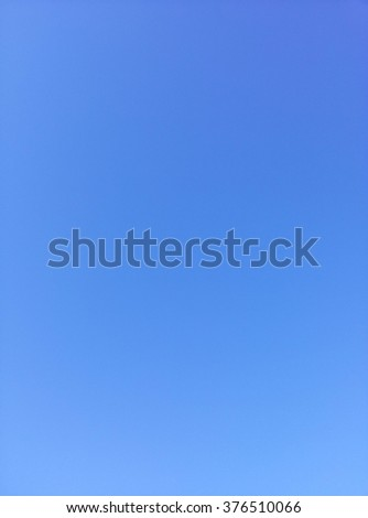 smooth and clearly blue sky, calm, tranquil, freedom - stock photo