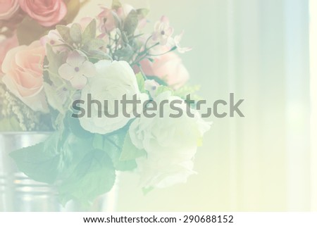 smooth and defocus colorful flowers abstract background - stock photo