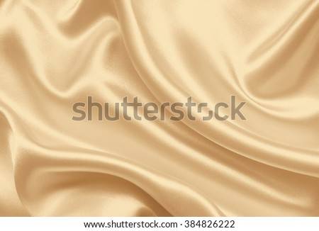 Smooth elegant golden silk can use as wedding background. In Sepia toned. Retro style - stock photo