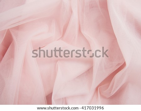 smooth elegant pink silk or satin can use as wedding background - stock photo