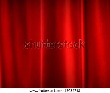 Smooth layered red silk - stock photo