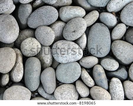 smooth Pebble stones texture - stock photo