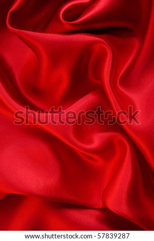 Smooth Red Silk as background - stock photo