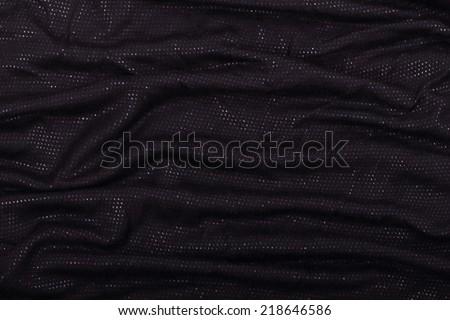 Smooth Shiny Black Fabric - stock photo