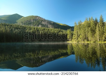 Smreczynski pond in Tatra National Park, Poland. - stock photo
