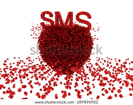 sms love - stock photo