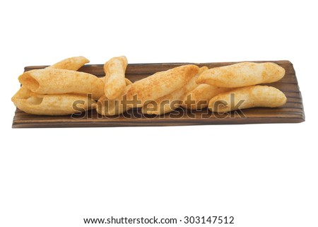 snack isolated on white background