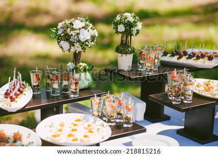 snacks for cocktail party  - stock photo
