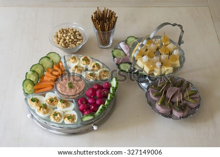 snacks on a plate