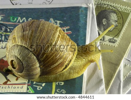 Snail-mail - stock photo