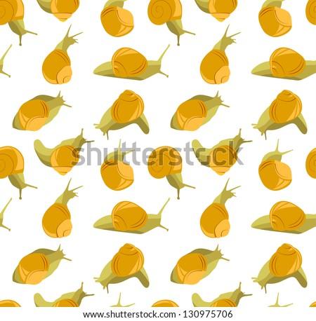 Snails pattern.  Its a raster copy. - stock photo
