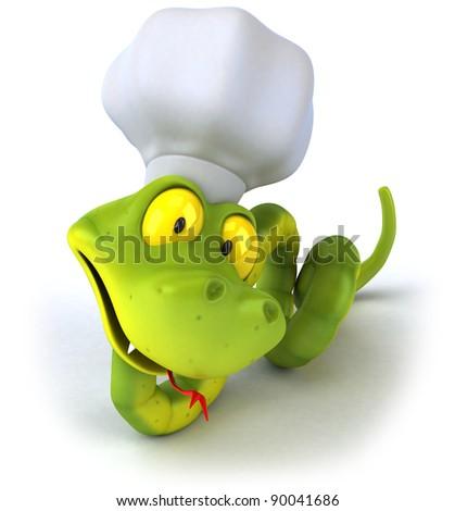 Snake chef - stock photo