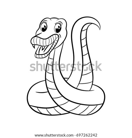 Snake Coloring Book Design Kids Children Stock Illustration ...