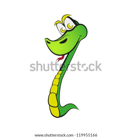 "Snake in the form of number one. Part of ""2013"". Raster version of the loaded vector. - stock photo"