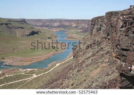 Snake River Valley - stock photo