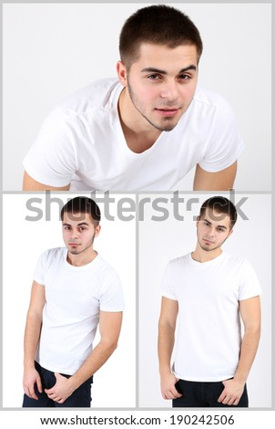 Snapshot of model. Handsome man - stock photo