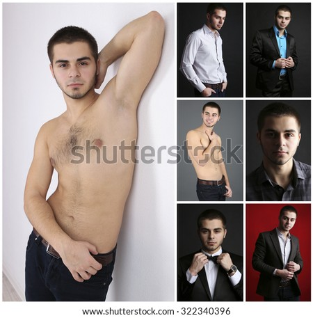 Snapshot of model. Handsome young man - stock photo