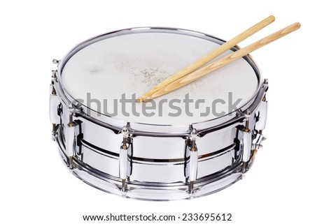 Snare drum and drumsticks - stock photo