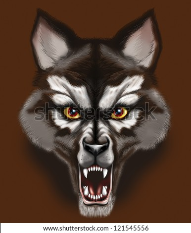 angry werewolf face - photo #9