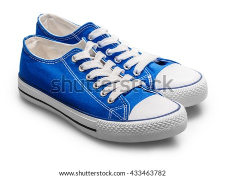 sneakers isolated on white background clipping path