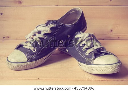 sneakers with filter effect retro vintage style